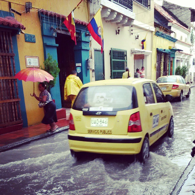 Floodwaters in Cartagena, Colombia.
